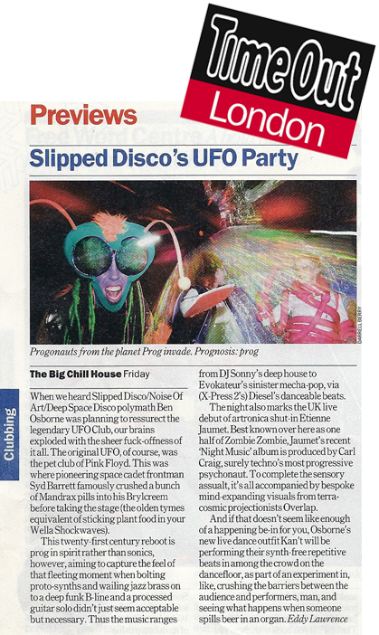 Slipped Disco's UFO Ben Osborne